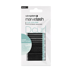 MARVELASH Cils Individuels D Curl 0.20 Vol 9-15mm