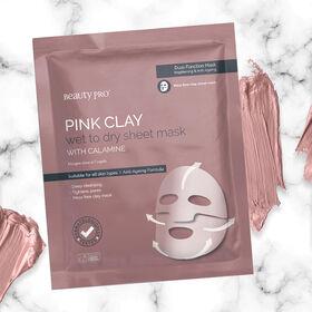 BEAUTY PRO Masque Argile Rose Eclaircissant et Anti-âge