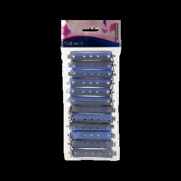 Sibel Lot de 12 Bigoudis à Permanente Bi-Color 12 pcs Gris-Bleu