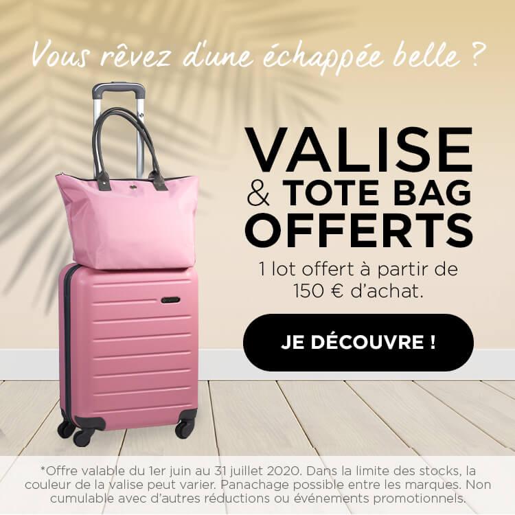 VALISE & TOTE BAG offerts - 1 LOT OFFERT À PARTIR DE 150 € D'ACHAT