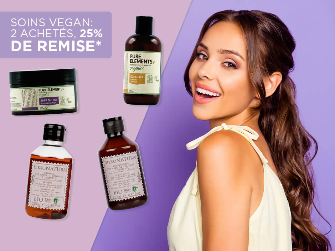 Offres sur les soins Vegan : 2 achetés, 25% de remise*